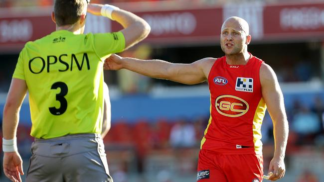 Gary Ablett pleads his case. Picture: Adam Head