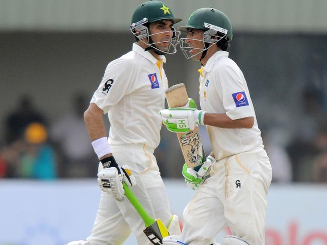 Younis Khan (R) and captain Misbah-ul-Haq helped turn things around for Pakistan.