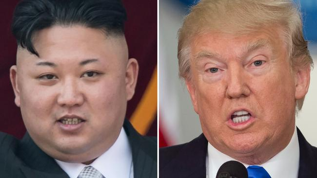 Rising tension between Kim Jong Un and US leader Donald Trump has seen nuclear brinkmanship reach the highest level in decades. Picture: AFP PHOTO / SAUL LOEB AND Ed JONES