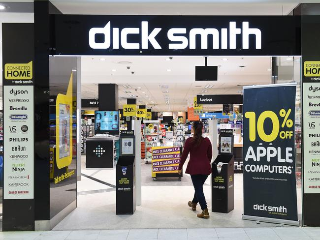 Dick Smith stores are struggling throughout Australia. Picture: AAP Image/Dave Hunt  Dick Smith staff 'hoarding bargains' abb8f6f1e9c3f54ab0348a07bdded4a2