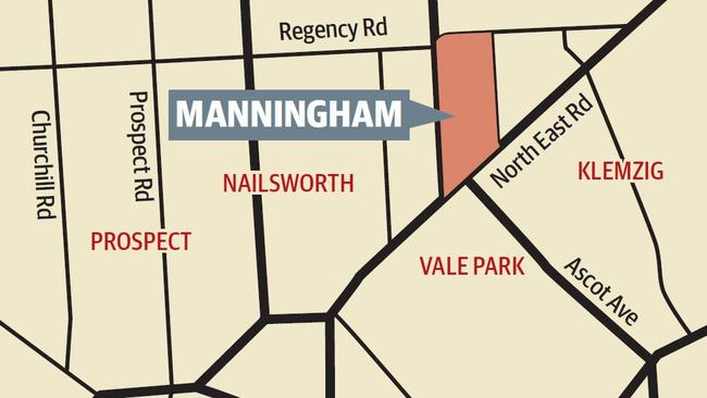 Down my street map Manningham
