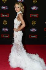 Marc Murphy and Jessie Habermann on the Brownlow Red Carpet. Picture: Stephen Harman