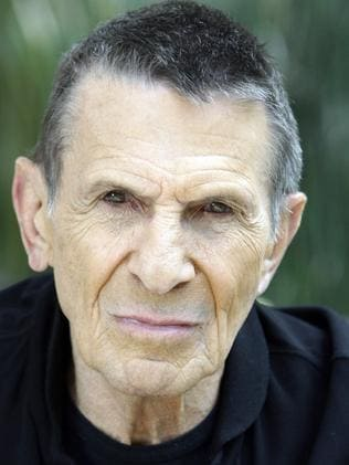 Serious features ... Leonard Nimoy in his Los Angeles home in 2009. Picture: AP/Reed Saxon