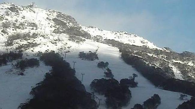 Sorry it's a bit blurry, but this is Thredbo this morning, Friday December 6.