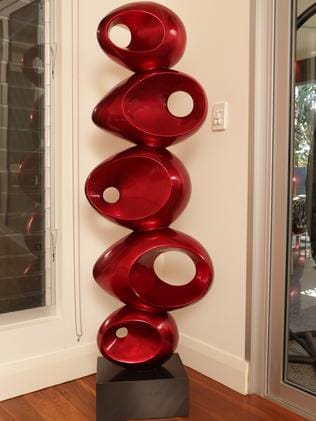 A sculpture in Tom Scully's home.
