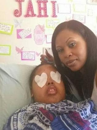 Keeping up hope ... Jahi McMath's mum won't stop believing that her daughter will wake up. Picture: Facebook