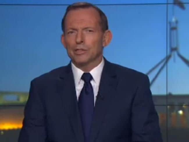 Former prime minister Tony Abbott defended himself, saying he backs Malcolm Turnbull's stance on gun laws remaining unchanged. Picture: ABC