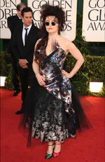 You can always count on some people to bring the zany to a red carpet event. Helena Bonham Carter wears a mismatched frock, mismatched shoes to the 2011 Golden Globes. Picture: Frazer Harrison/Getty Images