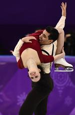 Italy's Anna Cappellini and Italy's Luca Lanotte compete in the ice dance free dance of the figure skating event during the Pyeongchang 2018 Winter Olympic Games at the Gangneung Ice Arena in Gangneung on February 20, 2018. Picture: AFP PHOTO / ARIS MESSINIS