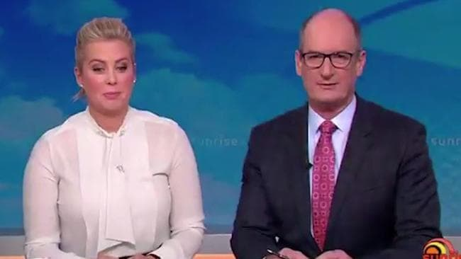 "Sunrise's Kochie and Sam view footage of Pauline Hanson's ""daring"" split dress. Picture: Channel 7"