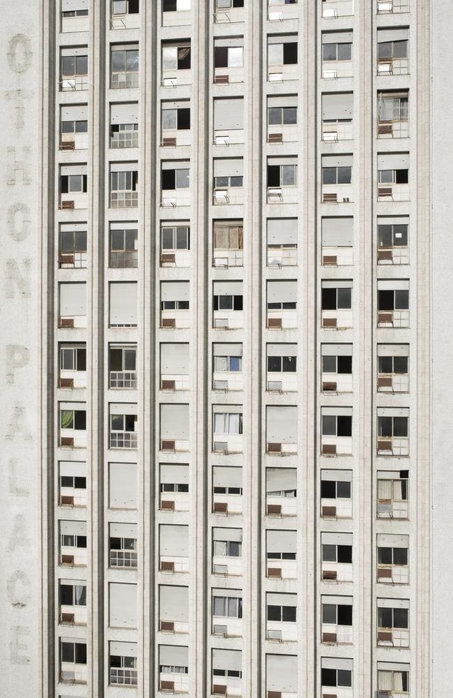 Facade of the occupied Othon Palace Hotel. Residents were moved out in June 2013 after a legal decision in the lead up to the World Cup. Picture: Felipe Paiva/Newsmodo