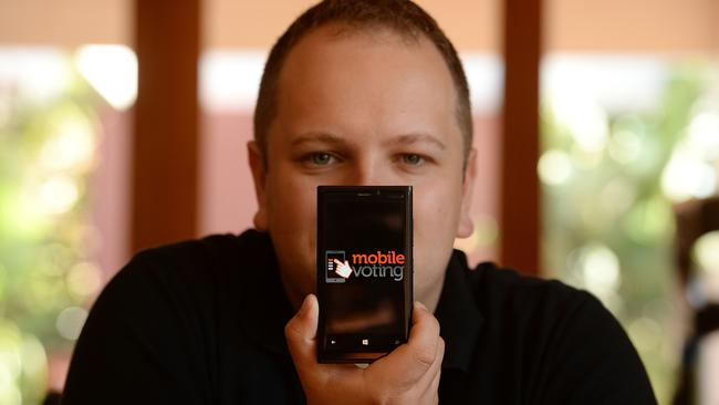 University of New England PhD student Phillip Zada says a public awareness campaign was necessary to implement a successful mobile internet e-voting platform in Australia. Picture: David Smith