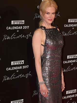 Nicole stepped out in a gorgeous silver gown. Picture: AFP Photo / Christopher Archambault