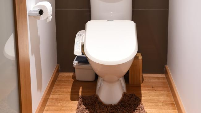 Even the toilet in the Goy's Airbnb is a source of fascination for guests with its Japanese seat. Picture: Lawrence Pinder