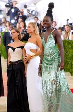 "Emma Watson, Margot Robbie and Lupita Nyong'o attend the ""Manus x Machina: Fashion In An Age Of Technology"" Costume Institute Gala at Metropolitan Museum of Art on May 2, 2016 in New York City. Picture: AP"