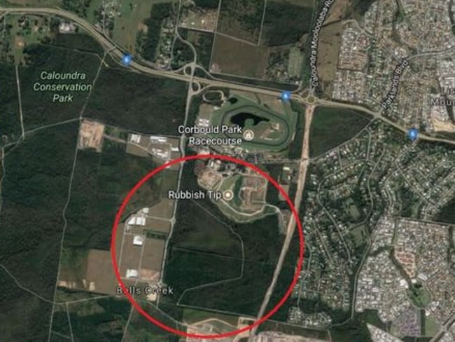 Waterbombing crews are targeting the area circled in red, as the fire moves east towards properties.