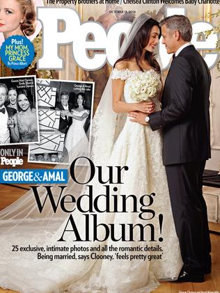 Beautiful bride ... the wedding dress, on the cover of People magazine.