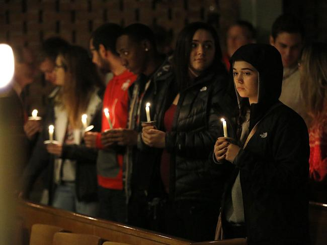 A vigil at St. Stephen's Episcopal Church in Columbus, Ohio. Picture: Jonathan Quilter/The Columbus Dispatch.