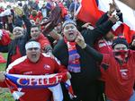World Cup Piazza Northbridge Chile fans celebrate