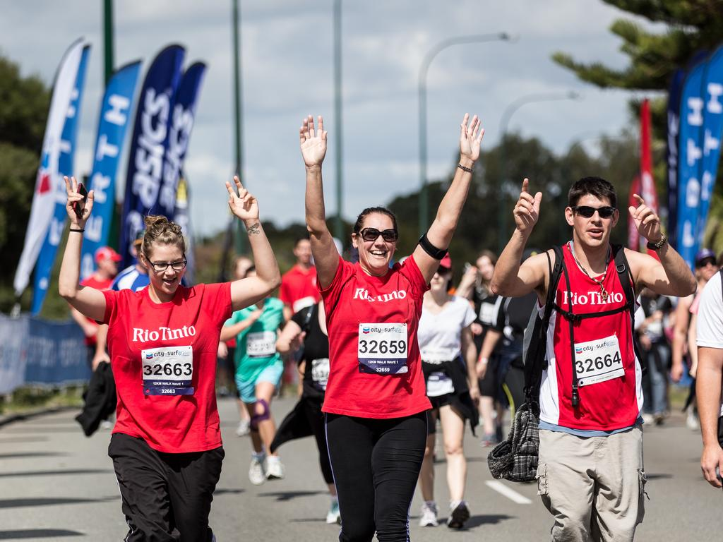 Action from the 2014 City to Surf for Activ.
