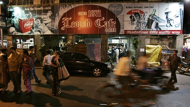 The Leopold Cafe in the days following the 2008 Mumbai terrorist attacks.