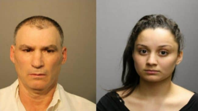 Salvador Gutierrez, 56 (left) is charged with concealing a homicidal death and his daughter Daisy Gutierrez, 19 (right)is charged with first-degree murder. Picture: Chicago Police