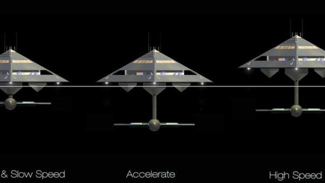 How the yacht would 'fly'. Picture: Jonathan Schwinge/Eyelevel UK