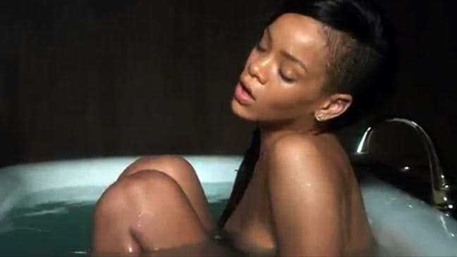 Something is. Rihanna naked on her lnees