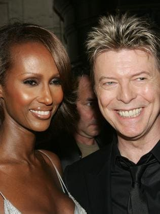 2005 ... Iman and her late husband David Bowie in New York. Picture: Getty