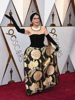 Rita Moreno at the Oscars in the dress she wore to accept Best Supporting Actress in 1961. Photo: AP