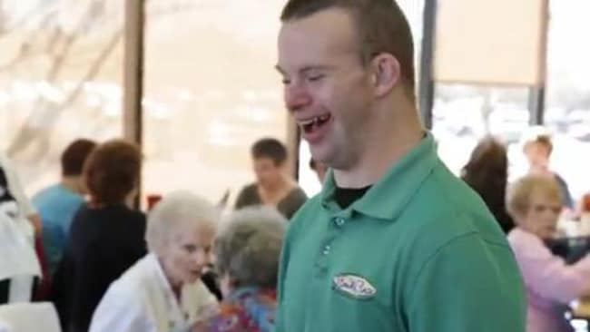 Tim, the world's friendliest restaurant owner, always with a smile on his face. Picture: AOL