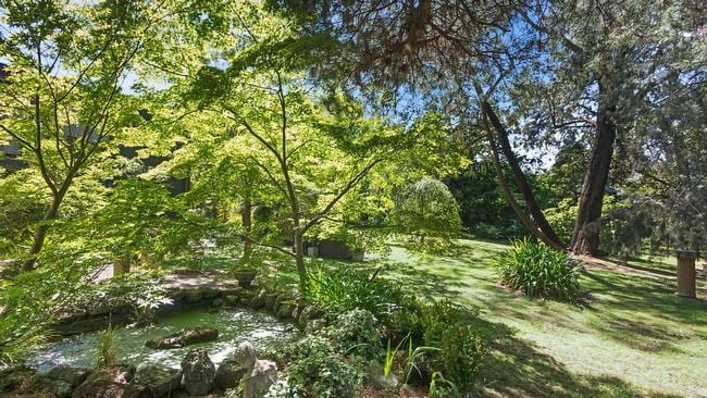 Low-maintenance gardens provide a tranquil environment on the 4024sq m site.