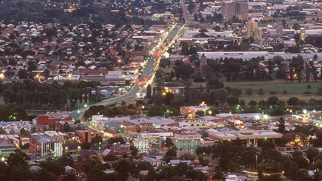 Dusk in Tamworth, where some homes are cheaper to own than rent. Picture: Tourism Tamworth