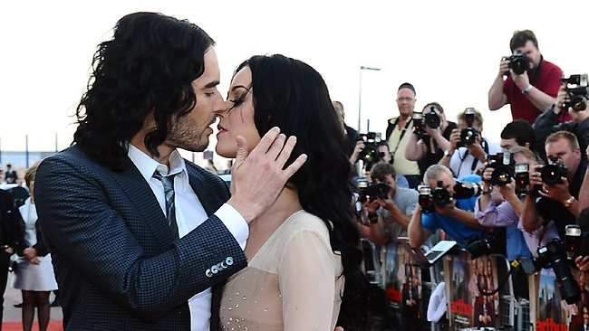 British comedian Russell Brand and Katy Perry in happier times.