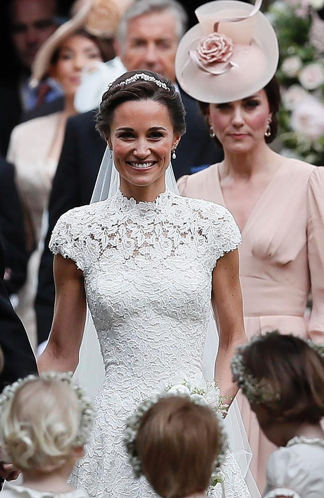Pippa Middleton on her wedding day. Picture: AFP