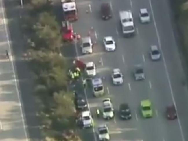 Crash on the M1: Footage: Channel 9.
