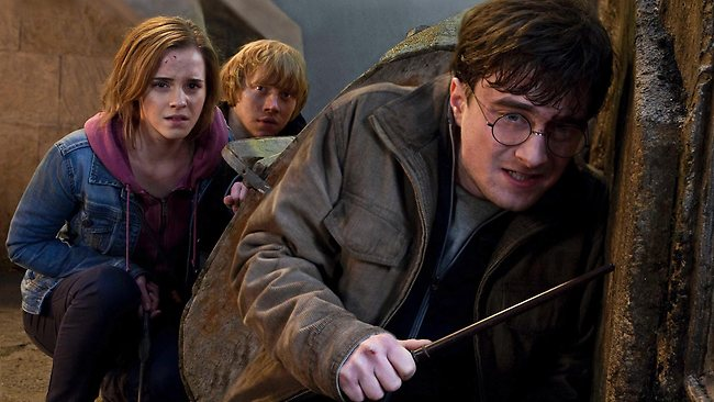 Emma Watson, Rupert Grint and Daniel Radcliffe are shown in a scene from 'Harry Potter and the Deathly Hallows: Part 2'. Photo: AP/Warner Bros. Pictures