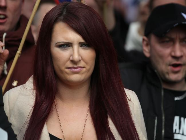 US President Donald Trump retweeted three anti-Muslim videos posted by Jayda Fransen, deputy leader of the far-right group Britain First. Picture: AFP