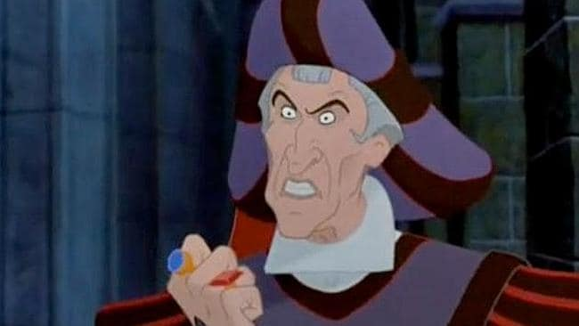 "Claude Frollo in ""The Hunchback of Notre Dame""."