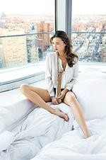 <p>Room with a view ... Miranda Kerr photographed for the Sunday Magazine. Picture: Chris Colls</p>