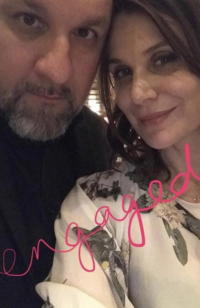 Adam Zammit's engagement with Diana Glenn announcement on Facebook