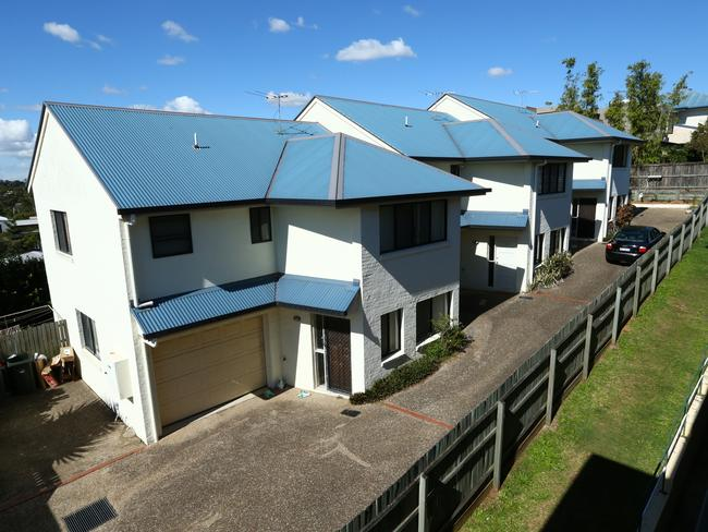 The Bulimba townhouses where Tanya Nicole Roberts was allegedly tortured.