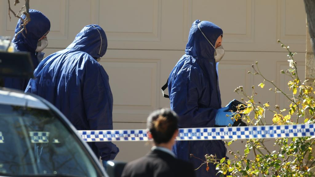 Police Forensic Officers At Annabelle Chens Mosman Park Home Last Week Picture Ross Swanborough
