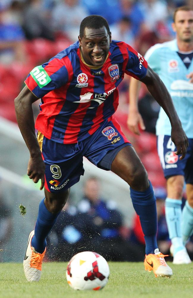 Emile Heskey in action for the Jets.