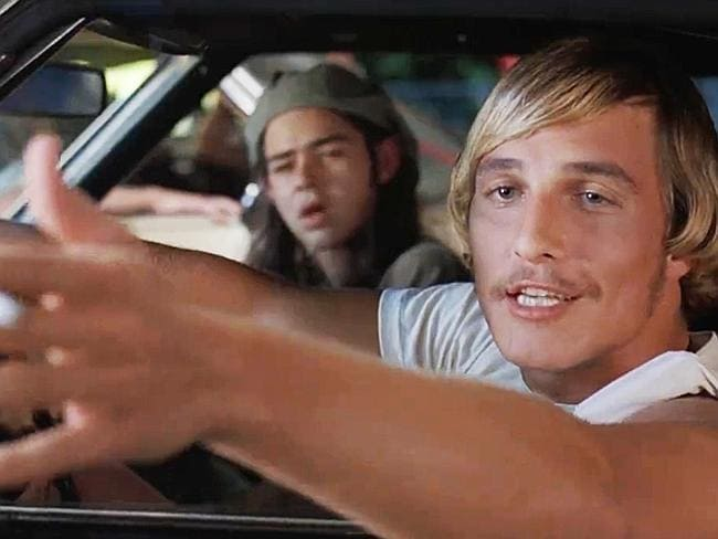Alright, alright, alright: MM in his first role, the 90s stoner flick Dazed and Confused.