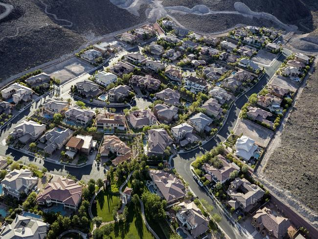 Roma Hills guard-gated homes, Henderson, Nevada, 2012. Pic: Michael Light.