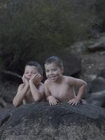 PARKS FOR PEOPLE: My kids resting after swimming at Honeymoon Pool near Collie. Picture: Jade Lay