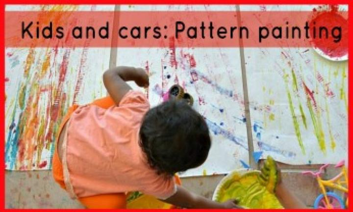 Kids and cars: Pattern painting