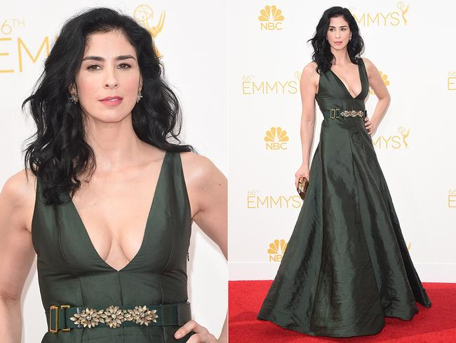 Comedian Sarah Silverman attends the 2014 Primetime Emmys. Picture: Getty/AFP