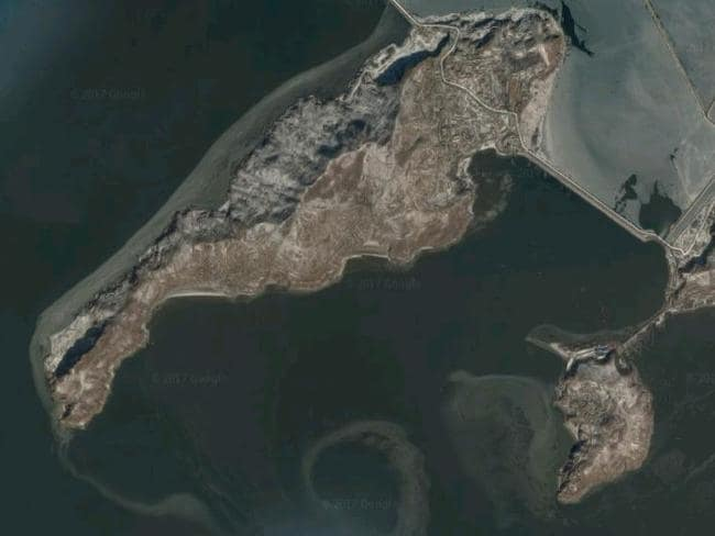 The islands could be for agricultural or civilian projects, but the state has been known to convert civilian structures for military purposes. Picture: Google Maps